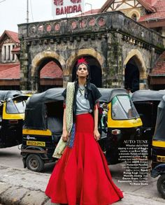 Model Bhumika Arora poses on the streets of Bandra, one of the coolest places in India, for the latest issue of Vogue India photographed by Bharat Sikka. The indian beauty wears looks from the fall . India Fashion, Asian Fashion, Look Fashion, Trendy Fashion, Fashion Design, Street Fashion, Tokyo Fashion, Vogue Fashion, Fashion 2018