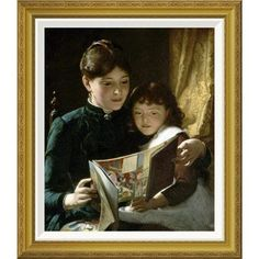Global Gallery 'Knowledge is Power' by Seymour Joseph Guy Framed Painting Print