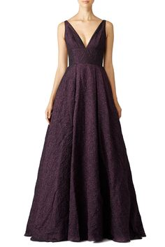 Rent Burgundy Center Stage Gown by ML Monique Lhuillier for $140 - $155 only at Rent the Runway.