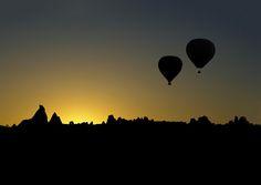 Meeting the Cappadocia's sun in balloons. by Savas Sener