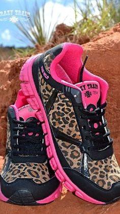 Crazy Train Women's Cheetah Run Wild Athletic Shoes Size 10 Pink #CrazyTrain #Athletic