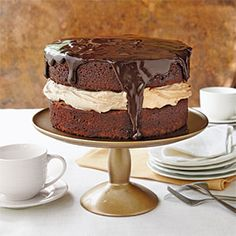 Triple-Chocolate Cake | MyRecipes.com