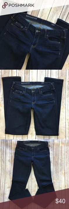 "J.Crew Jeans Matchstick Straight Leg 28 Dark Tag Size - 28 Waist Measured Across - 16"" Inseam - 32"" Rise - 7.5"" Great used condition! Always open to reasonable offers. J. Crew Jeans Straight Leg"