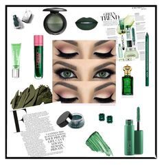 """""""Emerald City"""" by lizdp ❤ liked on Polyvore featuring beauty, Bobbi Brown Cosmetics, MAC Cosmetics, By Terry, Lipstick Queen, NYX, Illamasqua, Clive Christian, Burberry and CARAT* London"""