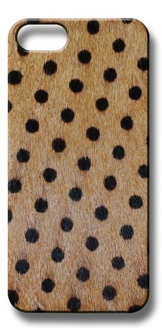 Valnez Handmade Poney Skin Chocolate Polka Dot iPhone Case
