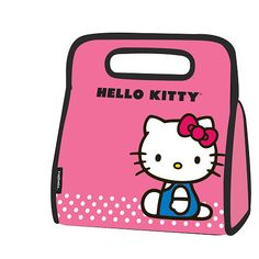 Your favorite Kitty is ready for school and even more ready for lunch. This Hello Kitty lunch sack in pink with black trim is the perfect back to school addition.