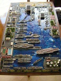 Super nice diorama of Pearl Harbor