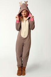 Millie Reindeer Hooded Onesie. Want this so bad.