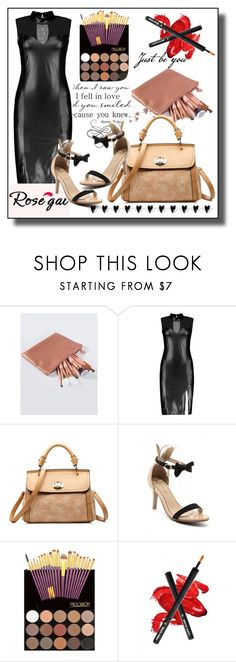 """Rosegal 36"" by samra-bv ❤ liked on Polyvore featuring Beauty, dress and brushes"