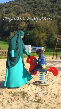 Con mi hija en el parque.