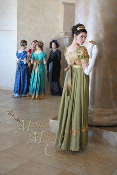 Evening Formal Regency Jane Austen Ball Gown Dress by MattiOnline, $219.95