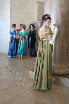 Evening Formal Regency Jane Austen Ball Gown Dress by MattiOnline, $219.95