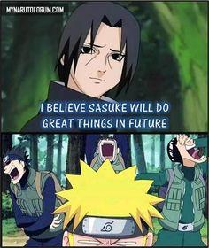Itachi Sasuke meme | Anime Memes | We Heart It #naruto #itachi #funny