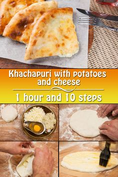 Khachapuri with potatoes and cheese