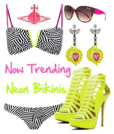 """Promoted - Now Trending: Neon Bikinis"" by deedee-pekarik ❤ liked on Polyvore featuring Vivienne Westwood, South Beach, Lipsy, Mawi, trending, promoted and neonbikinis"