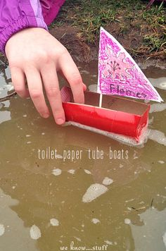 The next time your kids are faced with a rainy day, make some toilet paper tube craft boats!