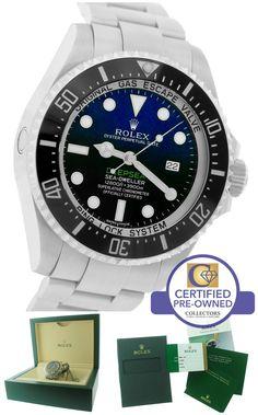 2016 Rolex Sea-Dweller Deepsea 'James Cameron' Blue Black 116660 44mm Dive Watch