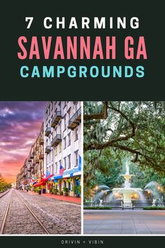 Are you searching for the best campgrounds in Savannah GA? Downtown Savannah, Savannah Chat, Savannah Georgia, Camping Spots, Camping Life, Rv Life, Luxury Rv Resorts, Camping Hammock, Kayak Camping