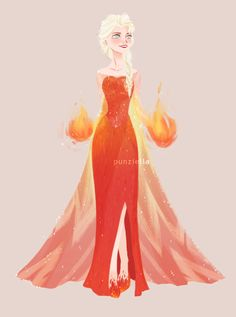 If she was of the fire element