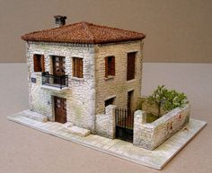 House no2 of the traditional Greek architecture series, HO scale(1:87)... built and painted from scratch for all you train-set lovers...thanx for watching..feedback of any kind always welcome..