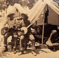 Banjo and guitar.
