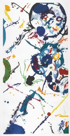 Sam Francis, Untitled aquatint, 47 x 28 in., edition of Leslie Sacks Fine Art Action Painting, Figure Painting, Tachisme, Jackson Pollock, Abstract Expressionism, Abstract Art, Modern Art, Contemporary Art, Sam Francis