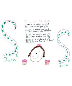 St. Jude cancer patients expressed their fears, hopes, and journeys by drawing the letters of the alphabet. Share a letter and Shaw will donate $1 for every letter shared.