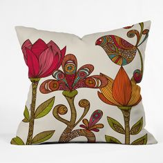 DENY Designs Valentina Ramos in The Garden Polyester Throw Pillow | Wayfair