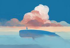 当你有一天 哭着 对我说.... 「再见了...天空的蔚蓝」-邦乔彦_原创,插画_涂鸦王国插画