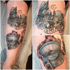 Harry Potter tattoo by Jessica White.