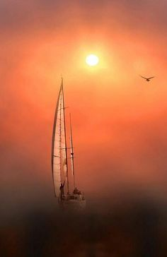 sun behind the ocean mist Long Island Sound, Victoria, Sail Away, Foto Art, Set Sail, Tall Ships, Belle Photo, Scenery, In This Moment
