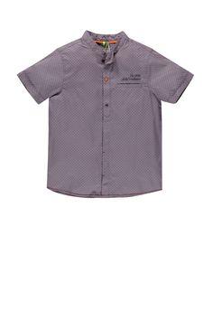 #chemise manches courtes imprimée all-over avec poche - Collection Retro Circus - www.shop-orchestra.com