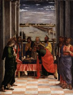 Andrea Mantegna, Morte della Vergine, 1462, tempera su tavola, Museo del Prado, Madrid