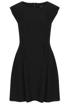 Crepe Seam Flippy Dress