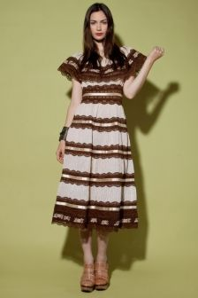 Vintage 1960s Lace Mexican Dress http://thriftedandmodern.com/vintage-1960s-lace-mexican-dress