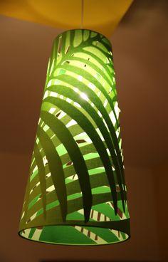 Colourful shoji paper floor lamp lights lamps homedecor green palm cone cut work pendant light by sunshine boulevard lights interiordesign homedecor mozeypictures Gallery