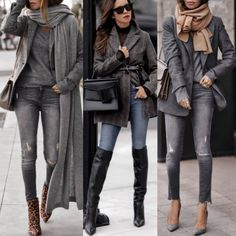 Casual outfits, fashion outfits, womens fashion, love fashion, cardigan out Casual Outfits For Teens, Casual Winter Outfits, Cool Outfits, Fashion Outfits, Womens Fashion, Cooler Look, Winter Mode, Cardigan Outfits, Looks Style