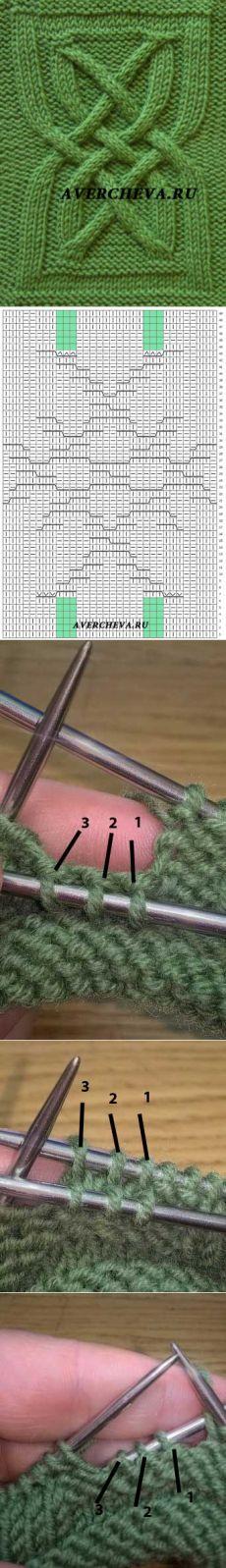 Узор 815 « Кельтский узел» | каталог вязаных спицами узоров