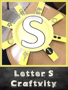 Letter Sounds- Letter S Lesson and Craftivity - letter crafts preschool alphabet Letter S Activities, Alphabet Letter Crafts, Preschool Letters, Alphabet Activities, Preschool Activities, Preschool Phonics, Abc Crafts, Kindergarten Writing, Preschool Learning