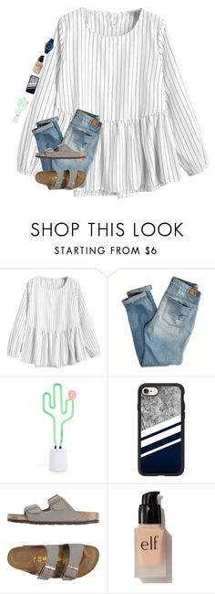 """•livin' life ✌•"" by mackenzielacy814 on Polyvore featuring American Eagle Outfitters, Sunnylife, Casetify, Birkenstock and e.l.f."