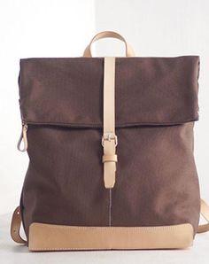 Handmade Leather backpack bag shoulder bag for women leather