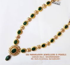 Emeralds and Uncuts Necklace from SriMahalakshmi Jewellers www.addiga.com