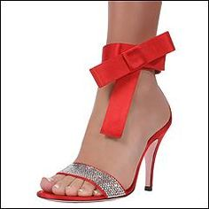 Christian Lacroix Holiday Red Evening Dress Sandals