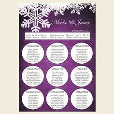 Purple snowflake table plan