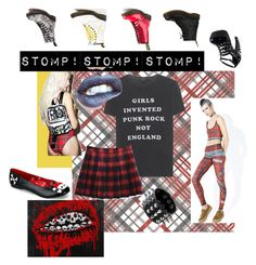 """STOMP!"" by mo-g-v ❤ liked on Polyvore featuring R13, Dr. Martens, Funtasma, WithChic and Elektrix Love"