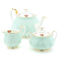 Royal Albert 1930 polka dot tea set(mk) wanted to pin but didn't know where to put it - Beautiful - can get this set at Macy's with some cups and saucers also