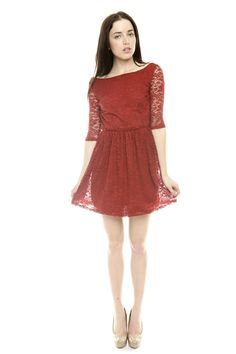 Surplice Back Lace Dress  Cute!