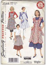 SEWING PATTERN Misses Retro 1948 & 1952 Style  Aprons 4 Designs Sizes 10 to 20