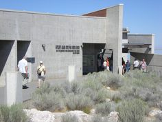 The Visitors Center at Antelope Island State Park