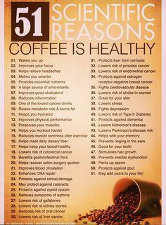 Coffee is healthy